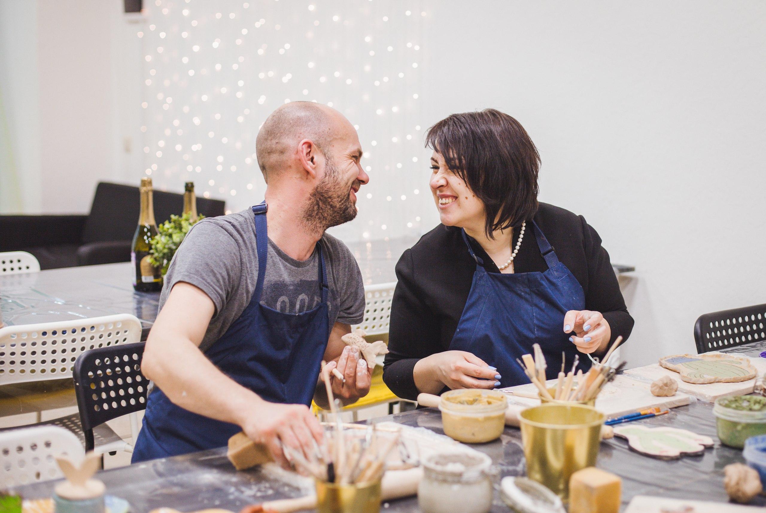 романтический вечер в гончарной студии